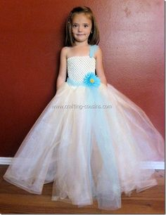 Diy tulle and lace flower girl dress