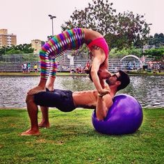 Source: Instagram user progressivefitball | Gorgeous Shots of Couples Doing Yoga to Inspire Your Day | POPSUGAR Fitness Photo 41