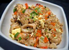 Arroz Chaufa com frutos do mar