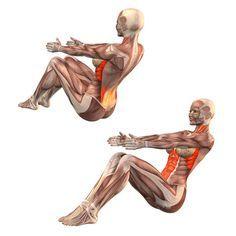 ૐ YOGA ૐ Sahaja Navasana ૐ Postura Facil del Barco o Bote.  Easy boat pose - Yoga Poses | YOGA.com