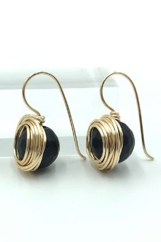 10 Gold Plated Brass Earring Hooks Curved Smooth Nickel Free Loop Earwires 23mm