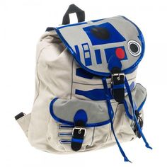 Star Wars R2D2 Canvas Knapsack Backpack Book Bag New Licensed