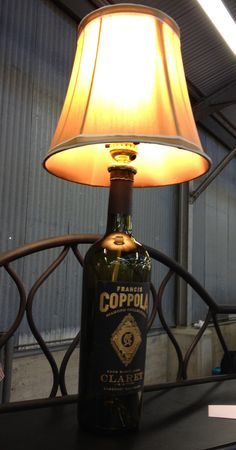 wine bottle lamp...I wants to make for Marie