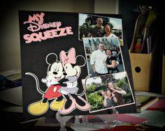 Cricut Disney Mickey and Friends: My Disney Squeezelayout #scrapbook