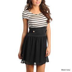 Nautical Stripe Flutter Dress.