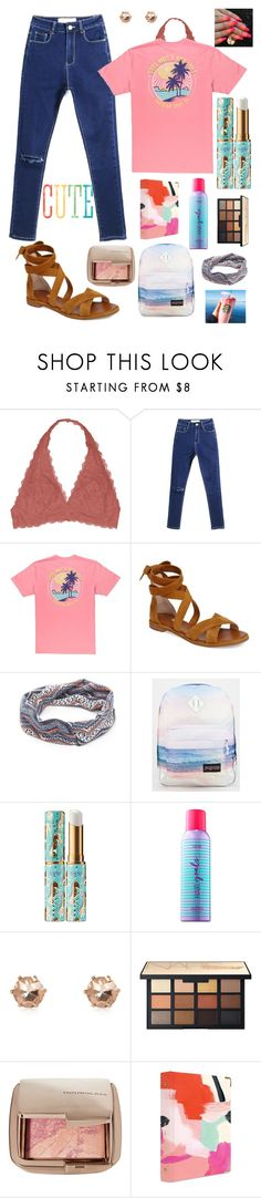 """""""another one ;)"""" by myachantel ❤ liked on Polyvore featuring Youmita, Louise et Cie, JanSport, tarte, River Island, NARS Cosmetics, Hourglass Cosmetics and russell+hazel"""