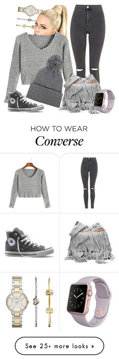 """""""<3<3<3"""" by maiiira-nair on Polyvore featuring FOSSIL, Topshop and Converse"""