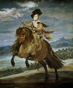 DIEGO VELÁZQUEZ  EL PRÍNCIPE BALTASAR CARLOS A CABALLO  1635 – Óleo sobre lienzo (209 x 173)