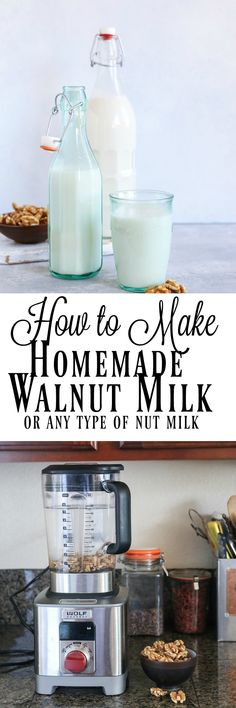 How to Make Walnut Milk (or any other type of nut milk) at home. An easy tutorial with photos