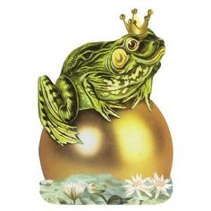 Die Cut Frog Prince Card ~ Germany from 32 o North