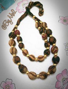 Necklace - handmade - Batik Solo