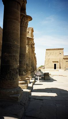 Egypt - Philae. Proof I'm an Egypt nerd. This wasn't labelled before, but I recognized it almost immediately. I need to stop reading.  What I wouldn't give to travel Egypt for a month or two? Heck, even a week or two would make me happy.