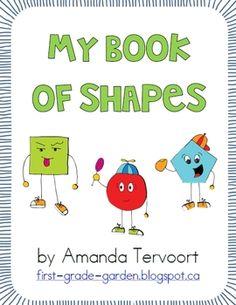 My Shape Book {All About 2D Shapes} - First Grade Garden - TeachersPayTeachers.com