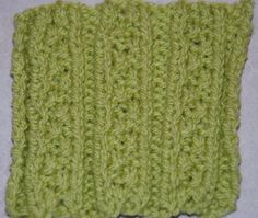 How to Knit Embossed Moss Stitch Ribbing: Embossed Moss Stitch Ribbing worked over 24 stitches.