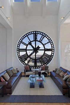 Tick tock, tick tock – wall clocks don't simply have visual appeal, the rhythm of a clock with its with moving parts and spinning cogs can be very relaxing and the steady 'tick tock' extremely soothing – perfect for a calming living room!