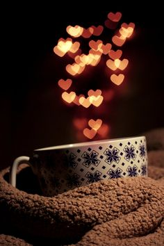 Nothing like a warm beverage when it's cuddle weather :)