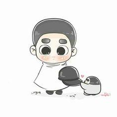 you still look cute, dyo-yah Kyungsoo, Kaisoo, Drawing Wallpaper, Wallpaper Backgrounds, Wallpapers, Exo Stickers, Exo Anime, Exo Fan Art, Korean Babies