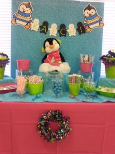 Fun Penguin party! See more party ideas at CatchMyParty.com! #partyideas #penguin