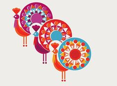 Beautiful colorful illustrations by Sanna Annukka Illustration by Sanna Annukka Illustration by Sanna Annukka San. Arte Tribal, Scandinavian Folk Art, Indian Folk Art, Madhubani Painting, Indian Art Paintings, Arte Popular, Traditional Paintings, Textile Patterns, Geometric Art