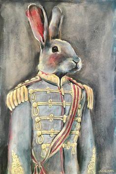 paintings of animals Anthro Cat, Animal Dress Up, Talking Animals, Rabbit Art, Animal Heads, Fairy Art, Beatrix Potter, Vincent Van Gogh, Animal Paintings