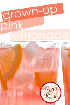 boozy pink lemonade (aka pink panty droppers!)
