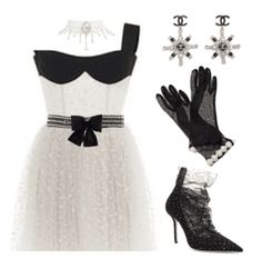 Discover outfit ideas for date night made with the shoplook outfit maker. How to wear ideas for Romantic White Bridal Style and Chanel Bow-Embellished Chain-Link Belt Kpop Fashion Outfits, Stage Outfits, Girly Outfits, Classy Outfits, Chic Outfits, Mode Kpop, Velvet Fashion, Korean Street Fashion, Alternative Outfits