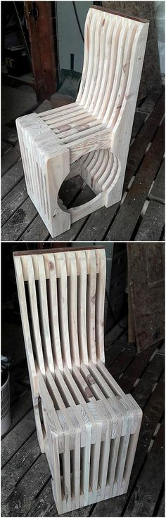 wood pallet made chair