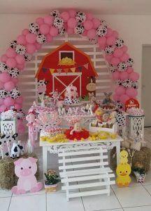 Mesa de dulces para Fiesta de la Vaca Lola   Ideas para las fiestas Infantiles, Para Mujeres Hombres 15 años y Bodas