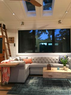 """A stunning tiny house on wheels by Tiny Heirloom, called the """"Hawaii House""""."""