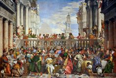 Paolo Veronese | late Renaissance or Mannerist | Wedding at Cana | 1563  | the largest in the museum