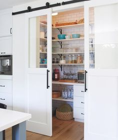 Use the Pantry as a Cook Space | Serene and hardworking: Really, what more could you want in a family home? Lilli Lee's is a treasure chest of smart storage and soothing style. Take the tour and grab some tips for your own place.