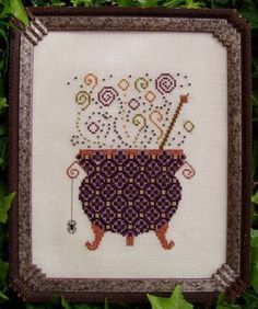 Witch's Brew - Cross Stitch Pattern. By Turquoise Graphics and Designs. $7.19