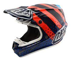 25b04e40 Troy Lee Designs 2018 SE4 Carbon (Black) Mips Helmet Streamline Orange/Navy  Adult