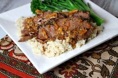Slow Cooker Ginger and Orange Glazed Pot Roast   Recipe Girl...I'll let you know tomorrow.