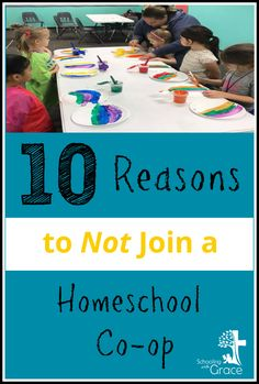 Read This snarky but true litmus test to decide if a homeschool co-op is really the right decision for your family. Read through the 10 Ten Reasons to not Join a Homeschool Co-op.