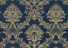 Barock Tapete blau gold Stil Ornamente online kaufen