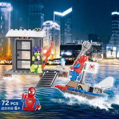 Kids Boys DIY Super Spiderman & Demons Educational Toys Building Blocks Bricks #Unbranded