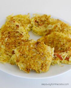 Spaghetti Squash Fritters - low carb side dish recipe