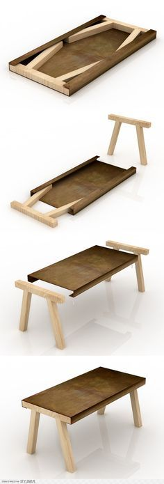 Modular in true sense.... Easy n simple THE Table. Fantastic way to build several tables for gatherings that can be stored easily.
