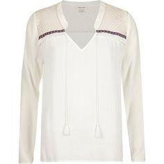 Cream tasselled blouse £32.00