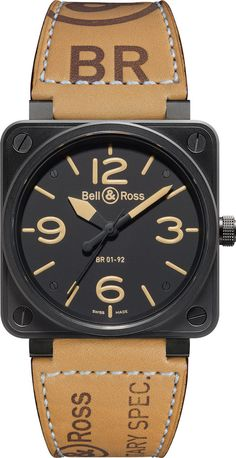 Bell & Ross Watch BR 01. To create the Bell & Ross watches BR 01 aviation watch, our designers took their inspiration from aeronautical instrumentation, the ultimate reference point for legibility and reliability. Available in a variety of models, the Bell & Ross BR 01 Instrument watch is no longer exclusively reserved for pilots. It has become an iconic watch to the great delight of watch collectors.