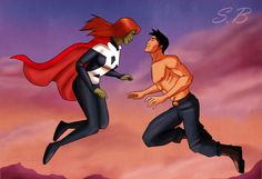 Young Justice. Miss Martian aka Megan and Superboy
