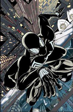 Black Spidey colors by shinlyle Marvel Comics, Marvel Art, Marvel Heroes, Marvel Avengers, Amazing Spiderman, Spiderman Art, Spiderman Symbiote, Univers Marvel, Spiderman Black Suit