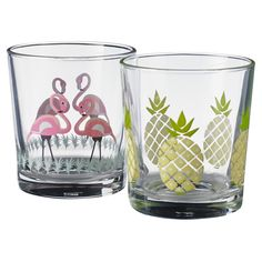 Flamingo and pineapple glasses!