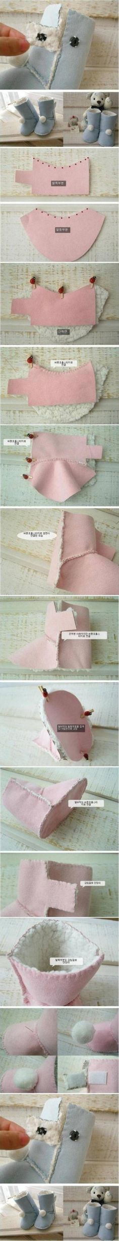 How to design and sew Kids Ugg Boots step by step DIY tutorial instructions , How to, how to do, diy instructions, crafts, do it yourself, d by Mary Smith fSesz