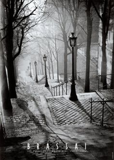 Montmartre, Paris, France, 1936 by Brassai.my favorite place we visited in paris Montmartre Paris, Paris 3, Paris Cafe, Paris 1920s, Oh The Places You'll Go, Places To Travel, Places To Visit, Street Photography, Art Photography