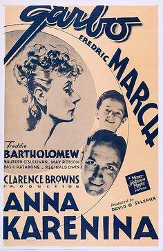 Fredric March Freddie Bartholomew, Maureen O'sullivan, Fredric March, Anna Karenina, Magazine Art, Movie Posters, Wikimedia Commons, Magazines, Kiss