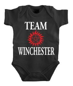 This onesie is cute because it's after the TV show supernatural.