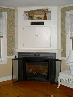 gas corner fireplace designs with shelves Luxury fireplaces