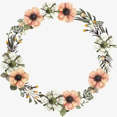 A garland, Yellow, Flowers, Green Leaves PNG Image Flower Background Wallpaper, Flower Backgrounds, Flower Garland Wedding, Flower Garlands, Wreath Watercolor, Watercolor Flowers, Drawing Flowers, Clip Art Library, Circle Garland